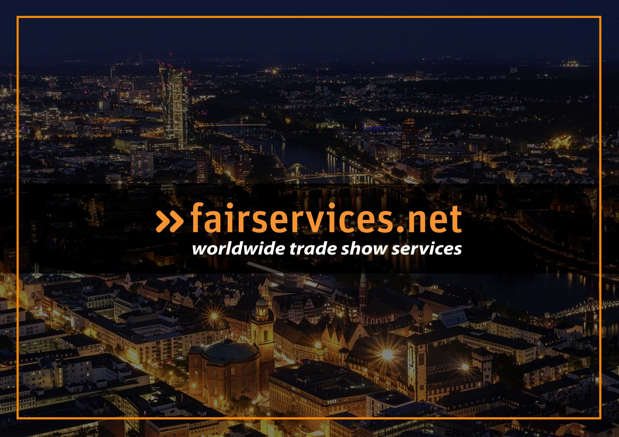 Fairservices Logo in front of night skyline